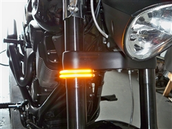 Motorcycle Fork Mounted Wrap Around Led Turn Signals For