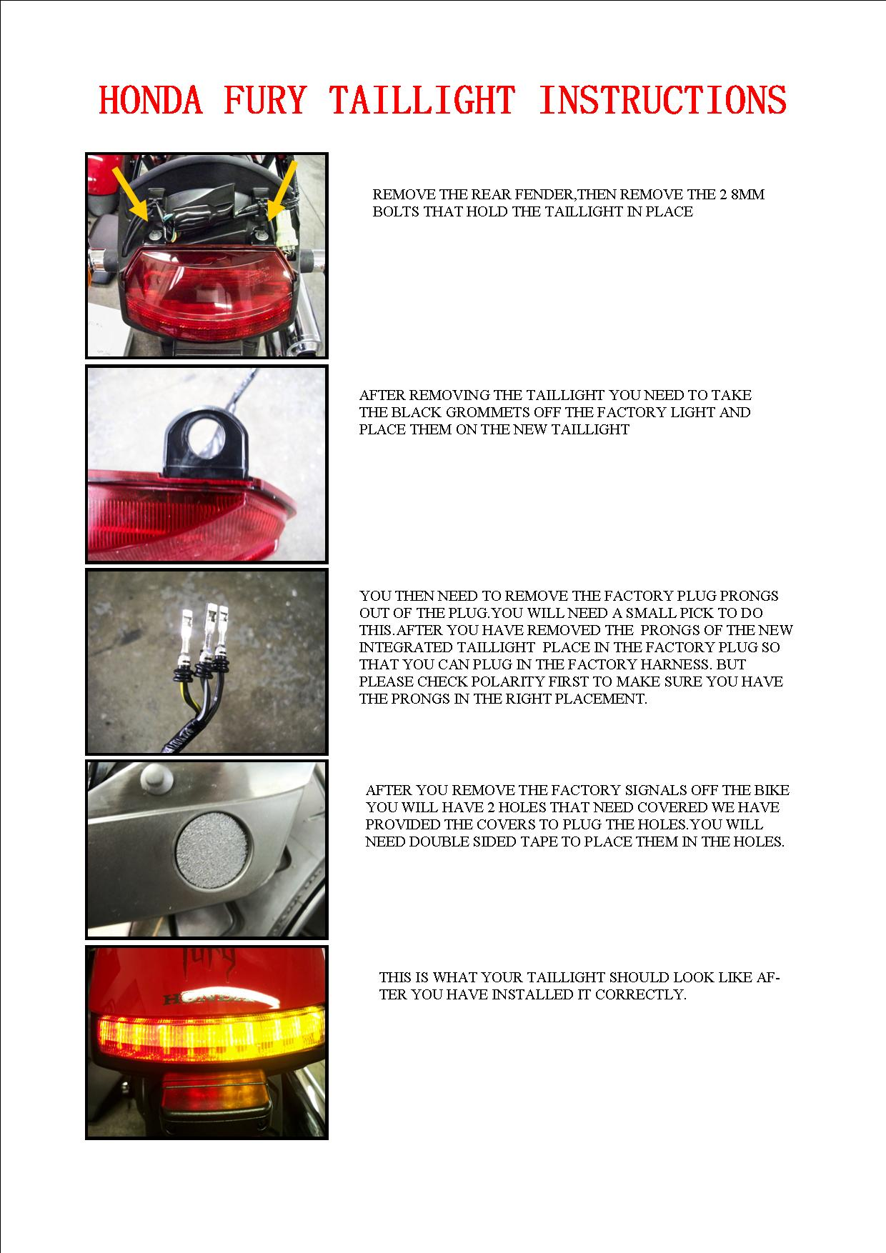 Headlight Taillight And Mirror Upgrade Manual Guide